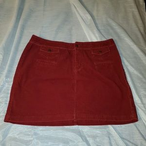 Red corduroy Lane Bryant skirt